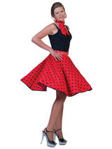 Ladies Rock 'N' Roll Skirt Red
