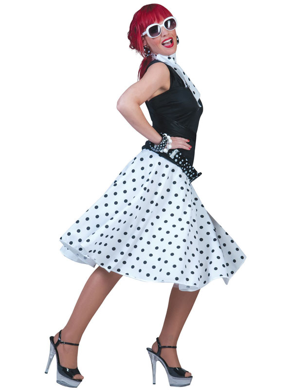 Ladies Rock 'N' Roll Skirt White