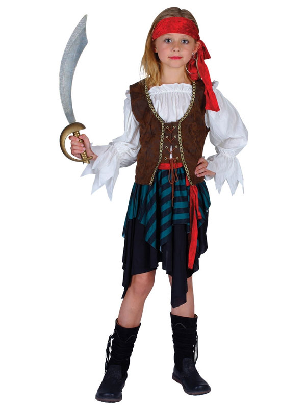 Child Caribbean Pirate Girl Costume