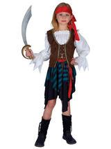 Child Caribbean Pirate Girl Costume