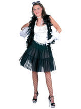 Adult Petticoat Long Black