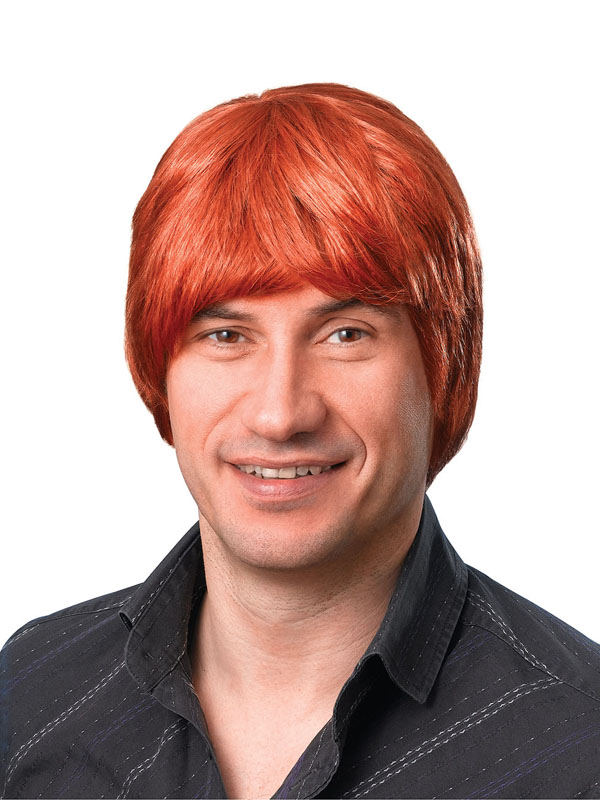 Adult Mens Male Wig Short Ginger Wig