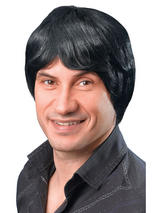 Adult Mens Male Short Black Wig