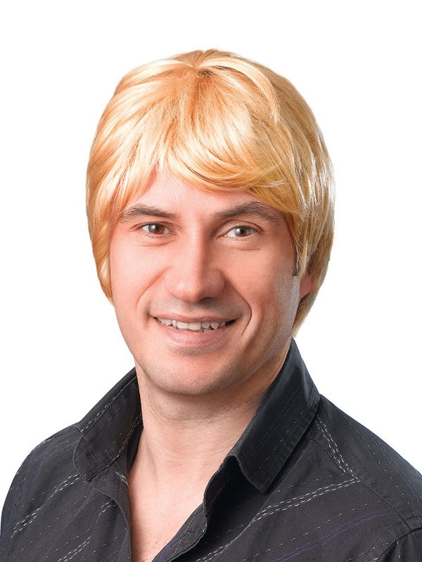 Adult Mens Male Wig Short Blonde Wig