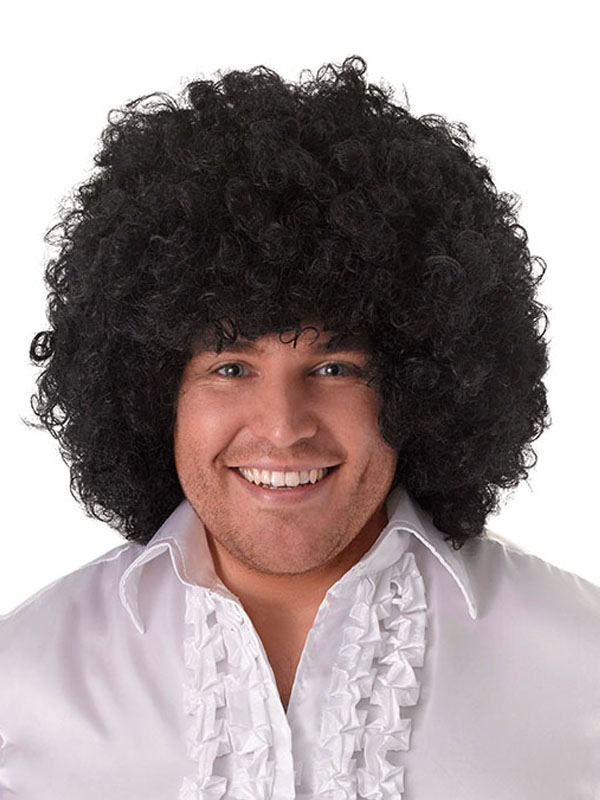 Adult Jumbo Pop Black Wig