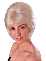 Adult Ladies High Beehive Blonde Wig