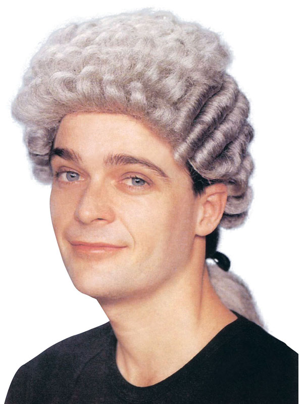 Adult Mens Barrister Grey Wig