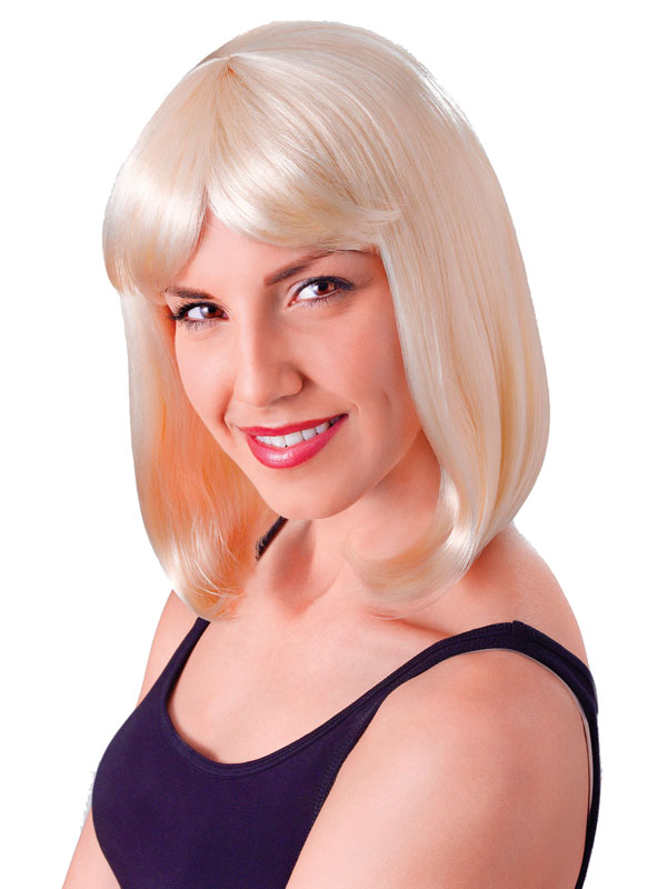 Adult Ladies Cheerleader Blonde Best Fibre Wig