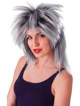 Adult Ladies Tina Two Tone Fibre Grey Black Wig