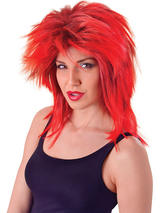 Tina Two Tone Red Black Wig