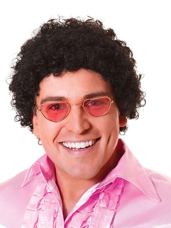 Adult Mens Short Curly Afro Wig - Black