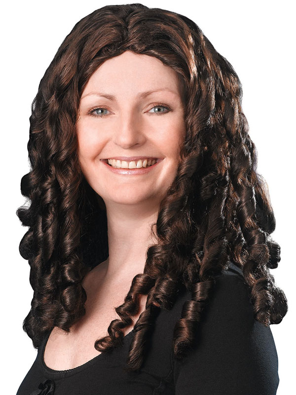 Adult Ladies Spiral Curly Wig Brown Wig