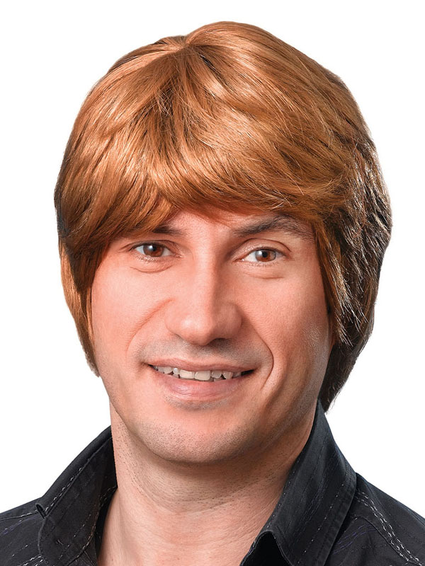 Adult Mens Brown Short Male Wig