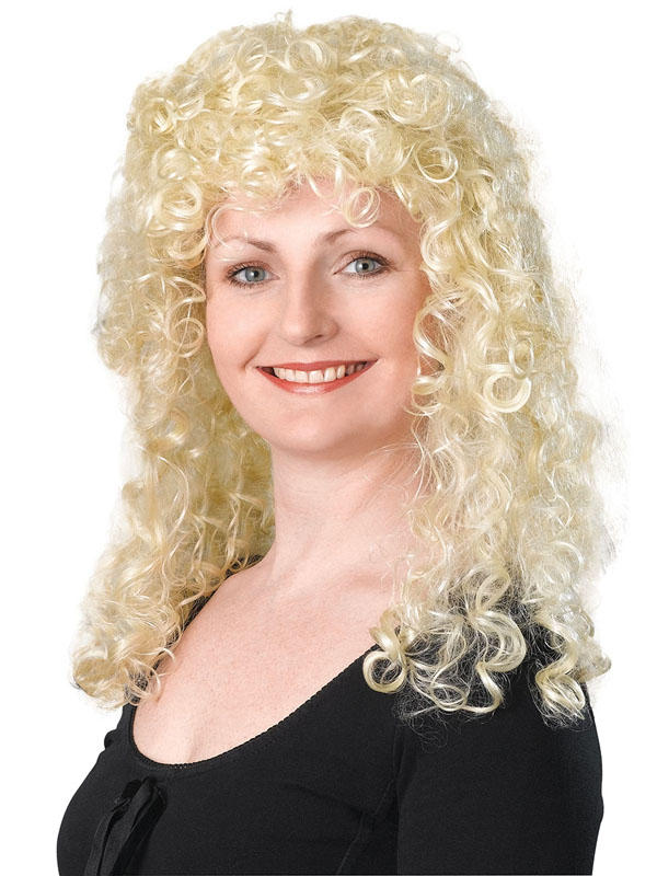 Adult Ladies Curly Long Blonde Budget Wig