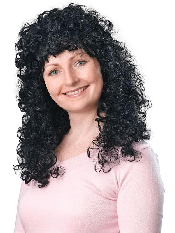 Adult Ladies Curly Long Black Budget Wig