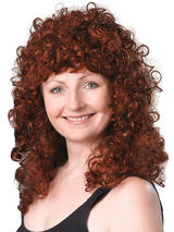 Adult Ladies Curly Long Ginger Budget Wig