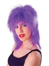 Adult Ladies Tinsel Tina Wig Purple Wig