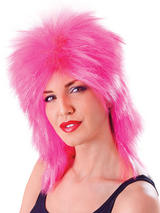 Adult Ladies Tinsel Tina Wig Pink Wig