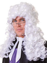 Adult Mens Judge Wig White - Budget