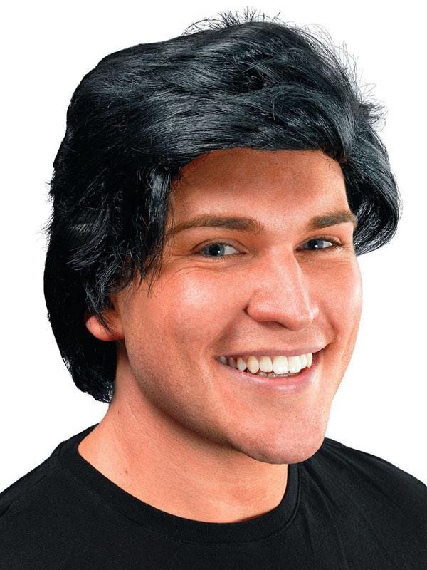 Adult Mens Mans Side Parting Black Wig