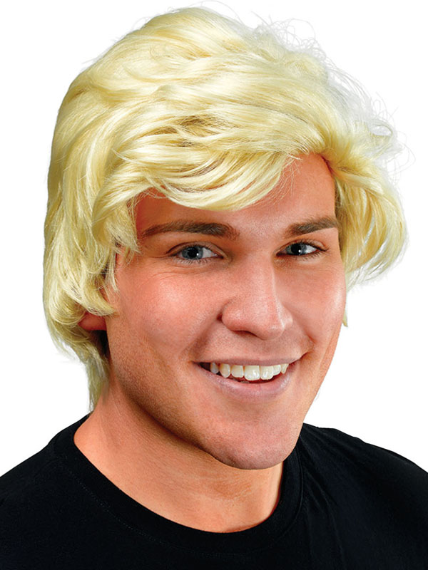 Adult Mens Man'S Blonde Side Parting Wig