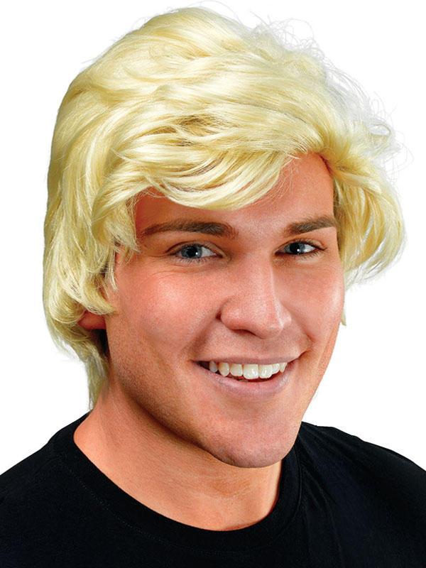 Adult Mens Man'S Blonde Side Parting Wig
