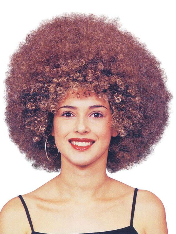 Adult Ladies Beyonce Afro Brown Wig
