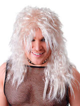Male Blonde Rock Star Wig