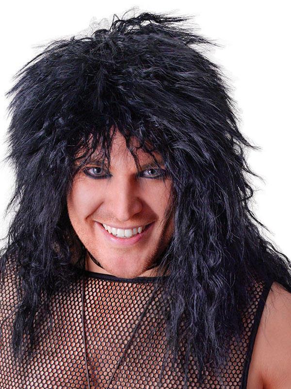 Male Rock Star Black Wig