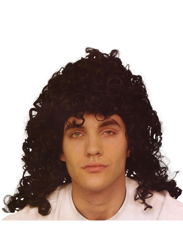 Glam Rock Black Wig