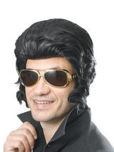 Adult Mens Elvis Wig With Big Sideburns