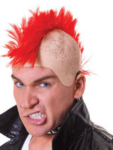 Adult Mens Mohican Red Hair Wig
