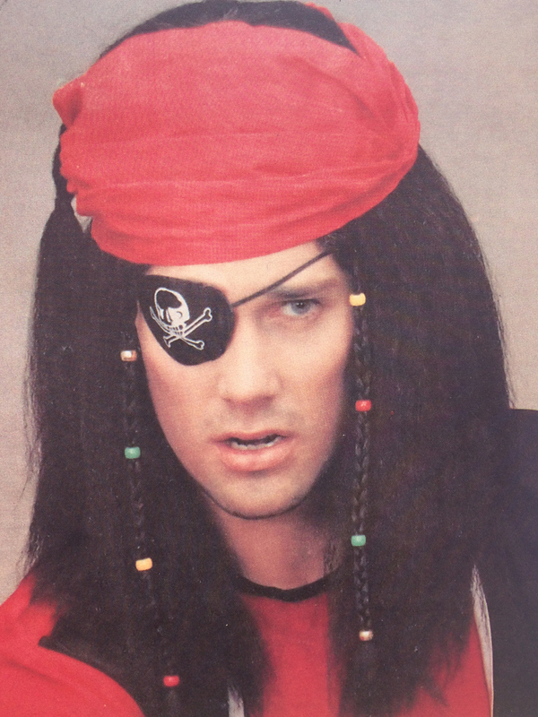 Adult Mens Pirate+ Headscarf Wig