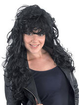 Adult Ladies Rock Chick Black Wig