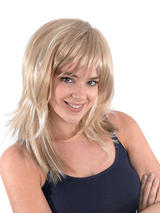 Adult Ladies Feather Cut Tone Blonde Wig