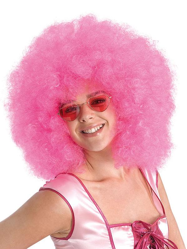 Adult Afro Mega Pink Wig