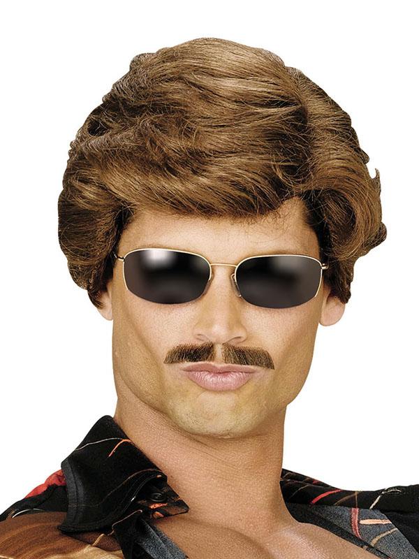 Adult Mens Used Car Salesman Brown Wig
