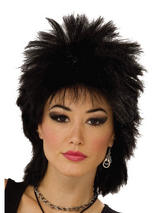 Adult Rock Idol Black Wig