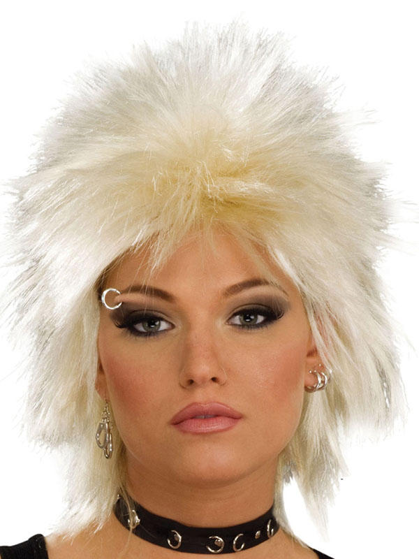 Adult Rock Idol Blonde Wig