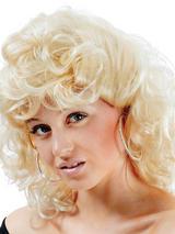Adult Ladies High School Curly Blonde Wig
