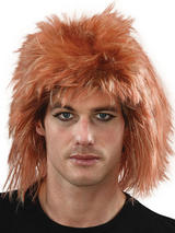 Adult Mens Ginger Punk Wig