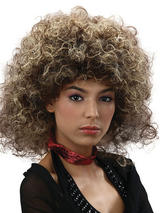 Adult Ladies Big Hair 2 Tone 80's Wig