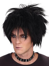 Adult Mens 80'S Spikey Rock Star Wig