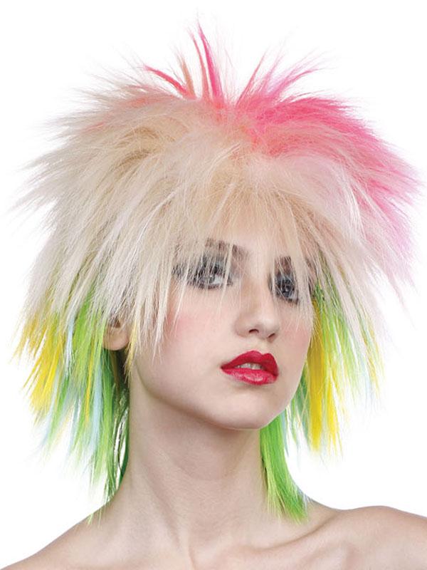 Adult Ladies Femalemulticoloured Wig