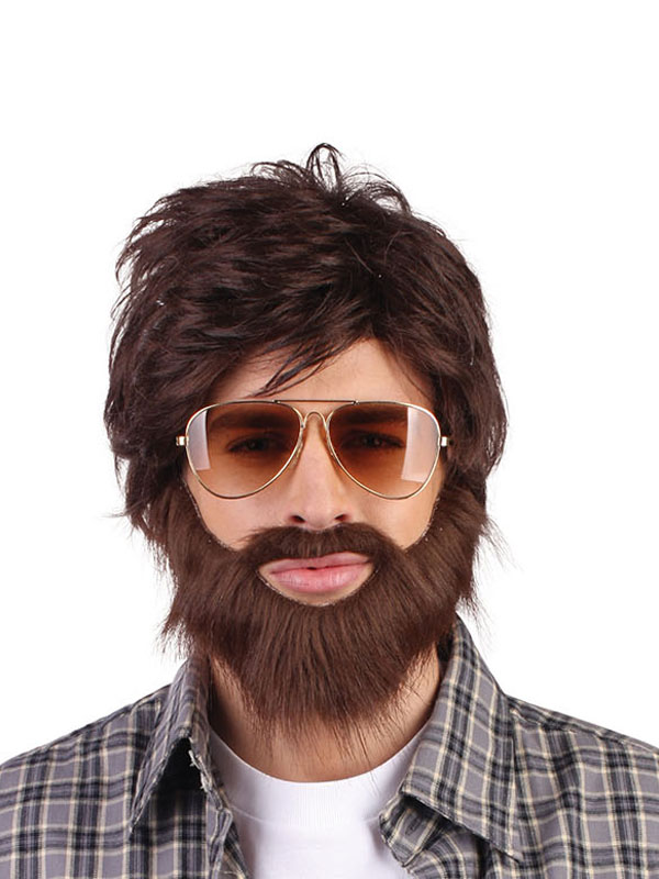Adult Mens Hangover + Beard Wig