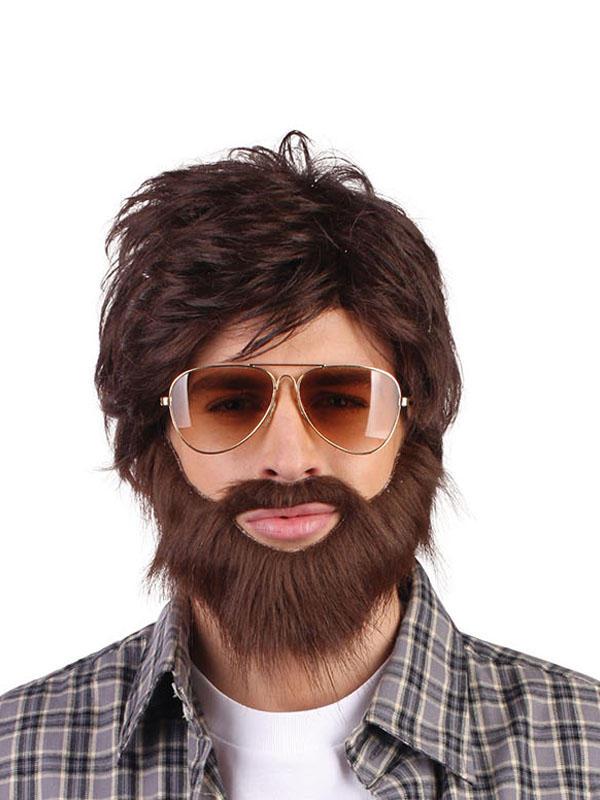 Adult Mens Hangover + Beard Wig