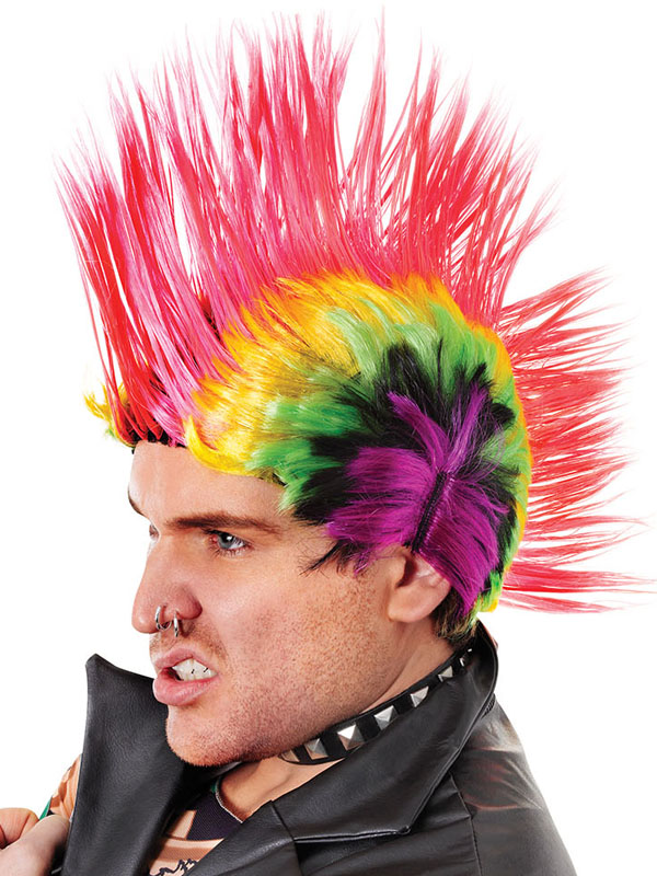 Mohican Multi Coloured Wig