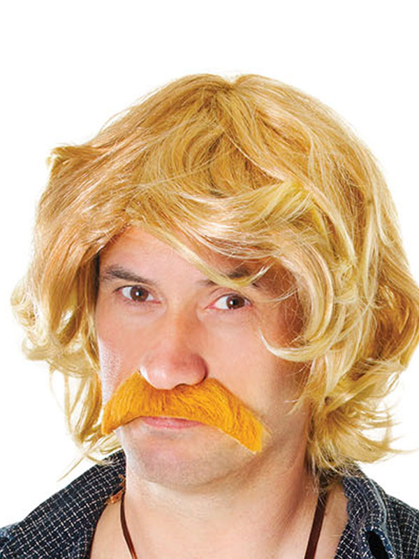 Adult Mens Celebrity & Tash Set Wig