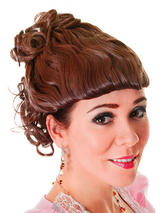 Adult Ladies Victorian Lady Brown Wig