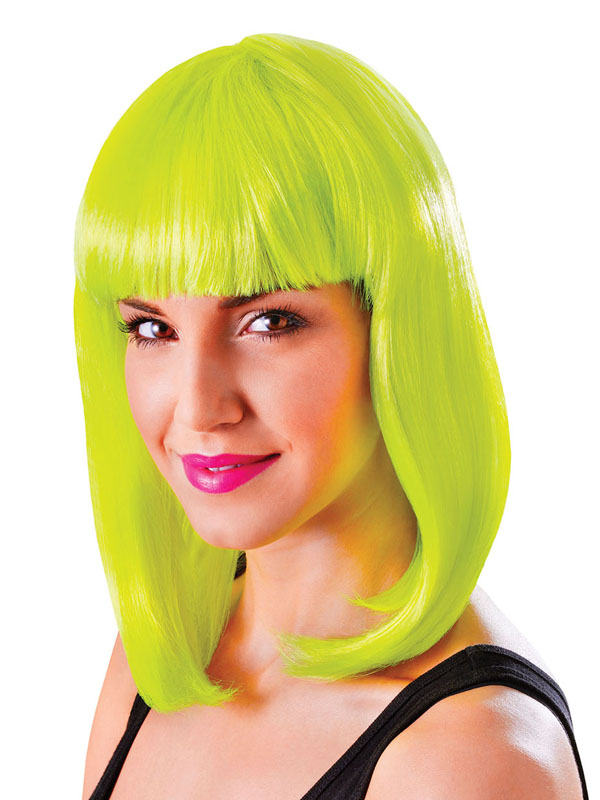 Adult Ladies Chic Doll Neon Yellow Wig